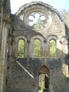 Orval Ruins Rose Window